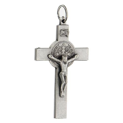 Klassisches Kreuz von Sankt Benedikt aus Zamack, 5 cm