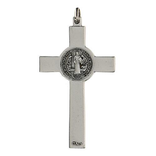 Klassisches Kreuz von Sankt Benedikt aus Zamack, 7 cm