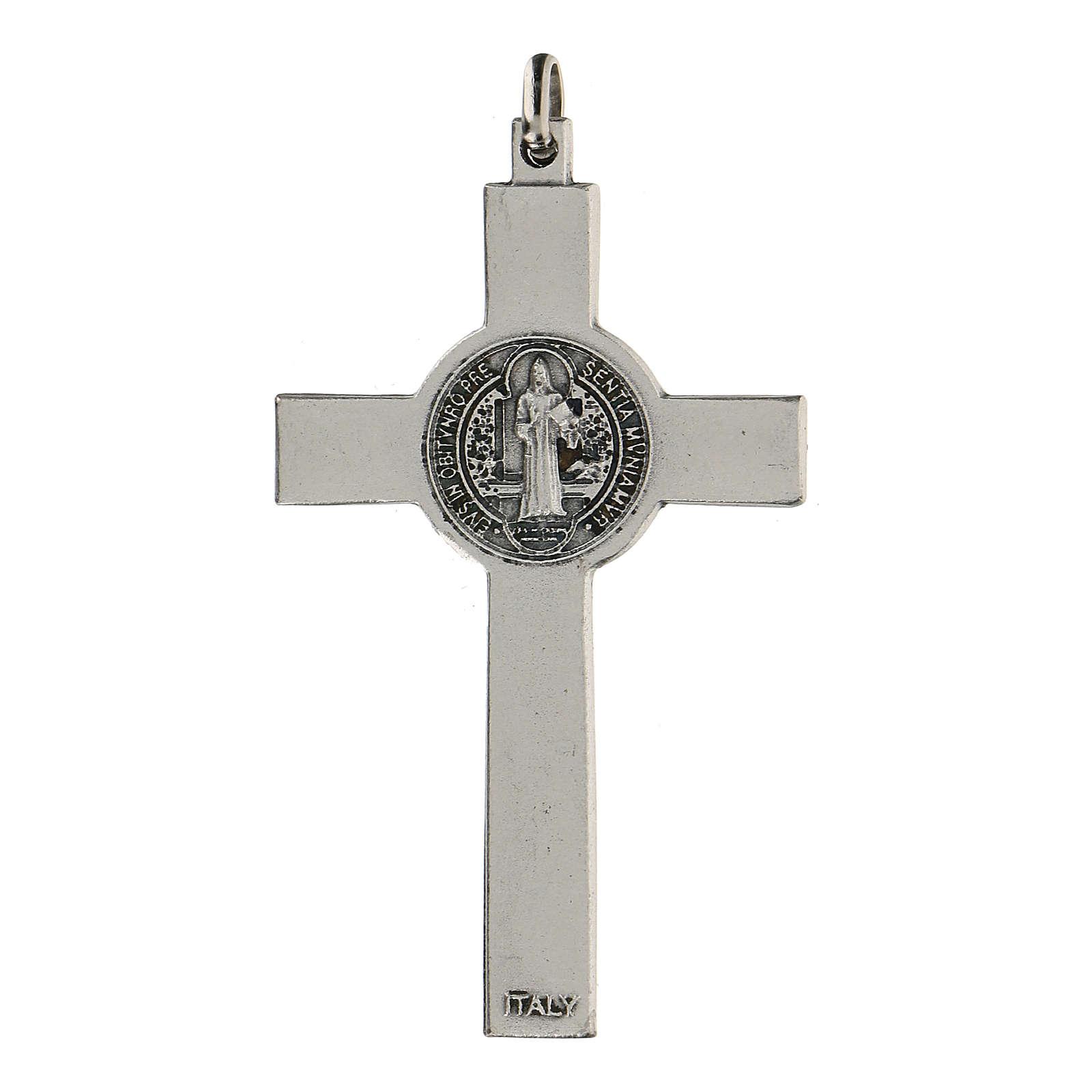 Croce classica San Benedetto 7 cm zama 4