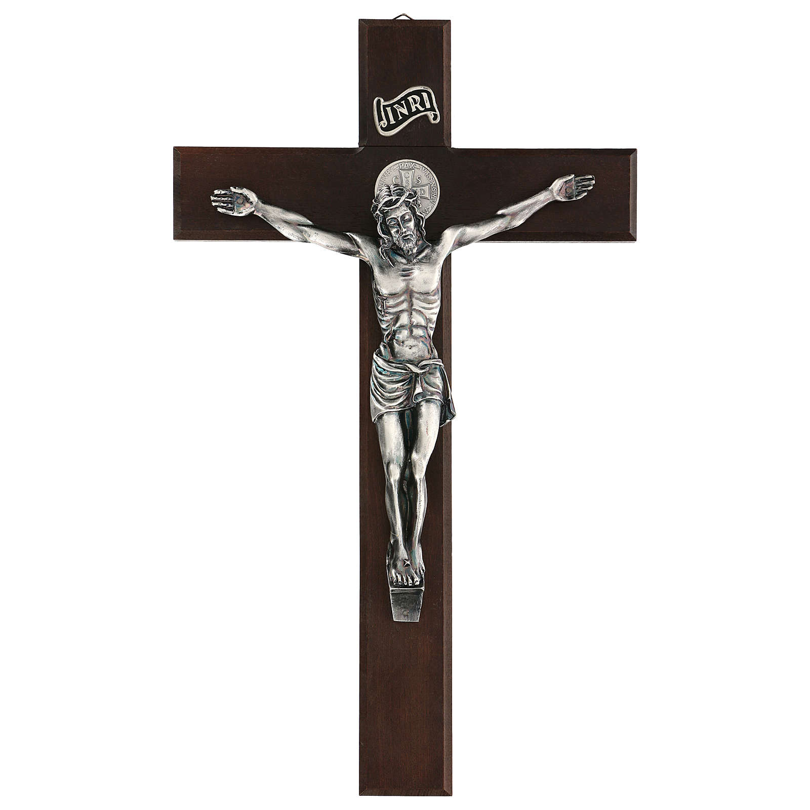 Cruz de nogal de San Benito 35 cm 4