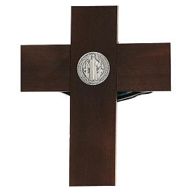 Cruz de nogal de San Benito 35 cm s4