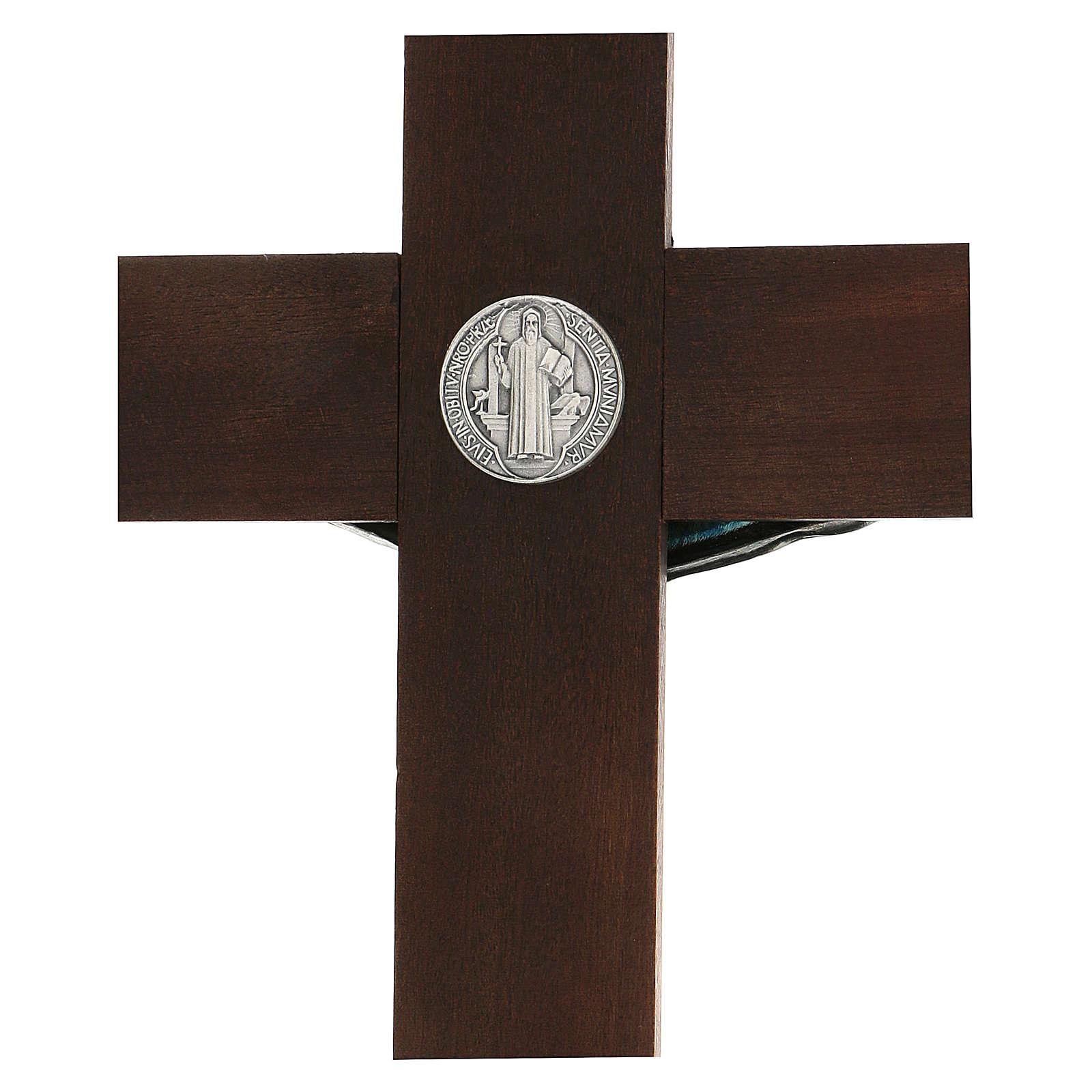 Croix en noyer de Saint Benoît 35 cm 4