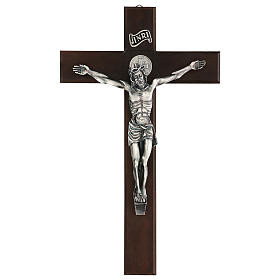 Croix en noyer de Saint Benoît 35 cm s1