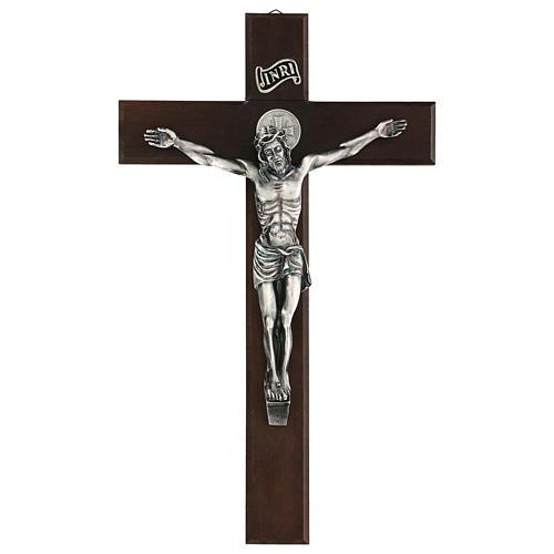 Croix en noyer de Saint Benoît 35 cm 1