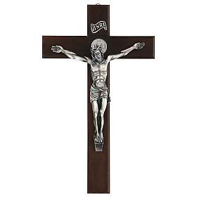 Croce in noce di San Benedetto 35 cm