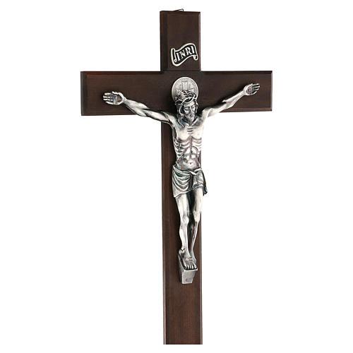 Croce in noce di San Benedetto 35 cm 3
