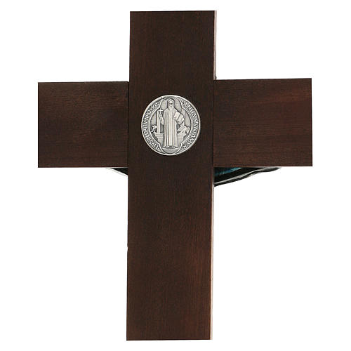 Croce in noce di San Benedetto 35 cm 4