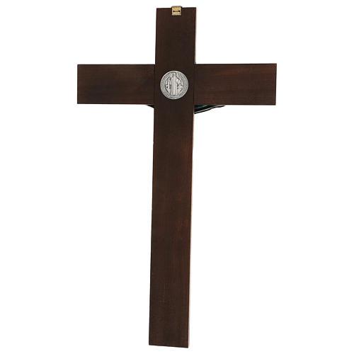 Croce in noce di San Benedetto 35 cm 5
