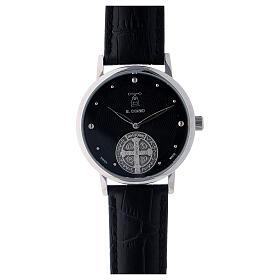 Montre noire Saint Benoît argent 925 s1