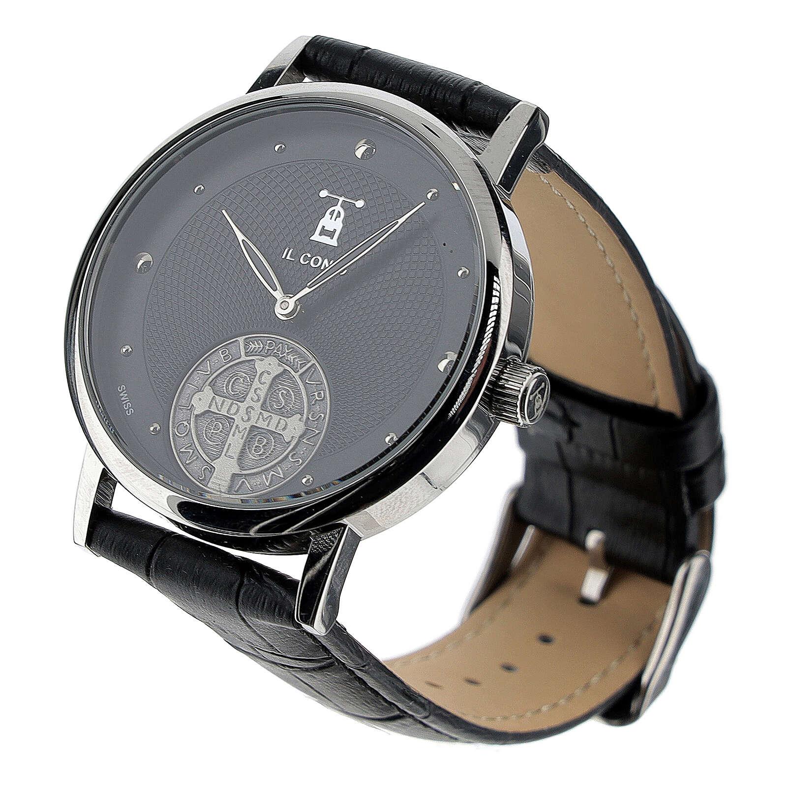 Orologio da polso nero San Benedetto argento 925 4