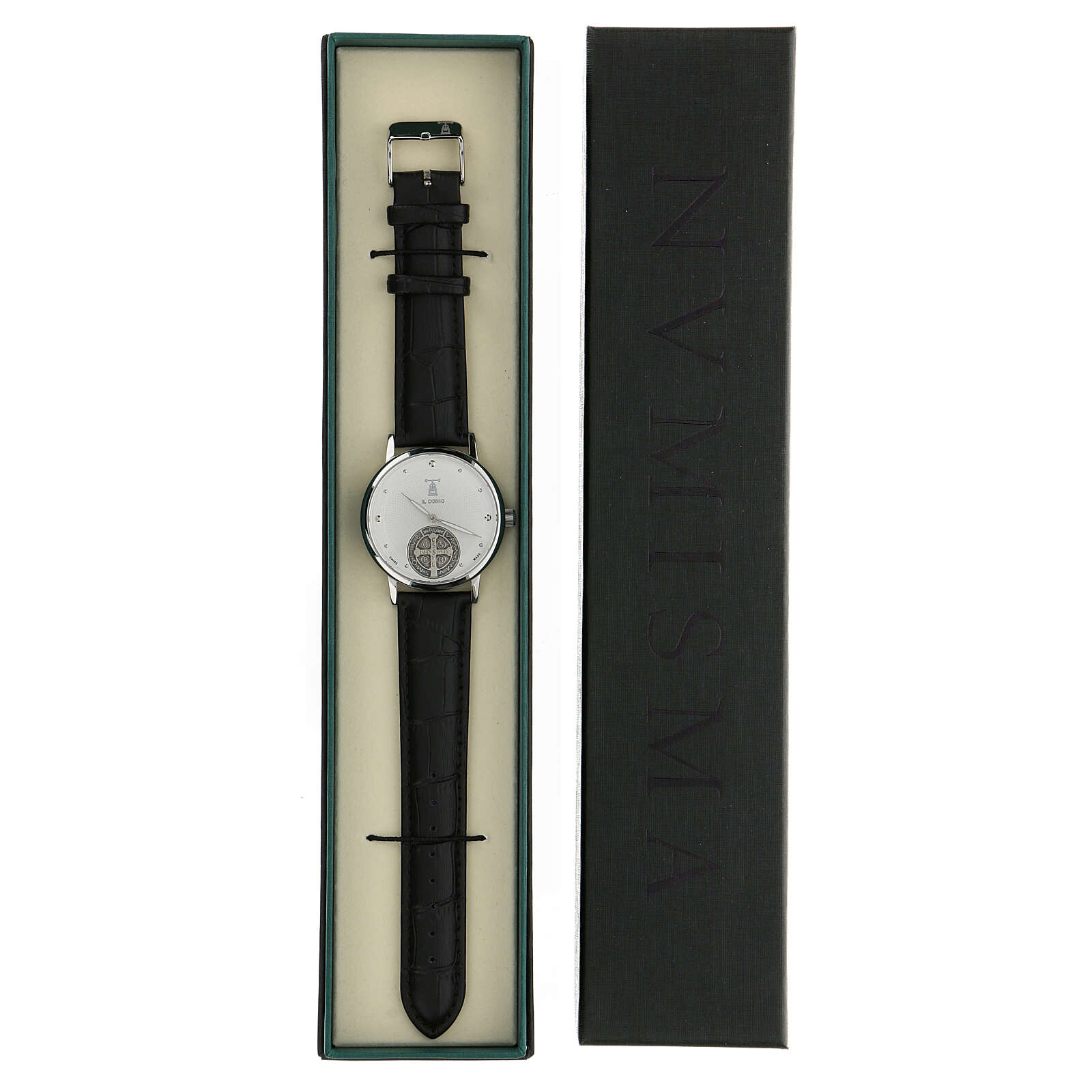 St. Benedict's white dial watch in 925 silver 4
