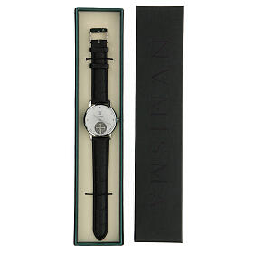 St. Benedict's white dial watch in 925 silver s5