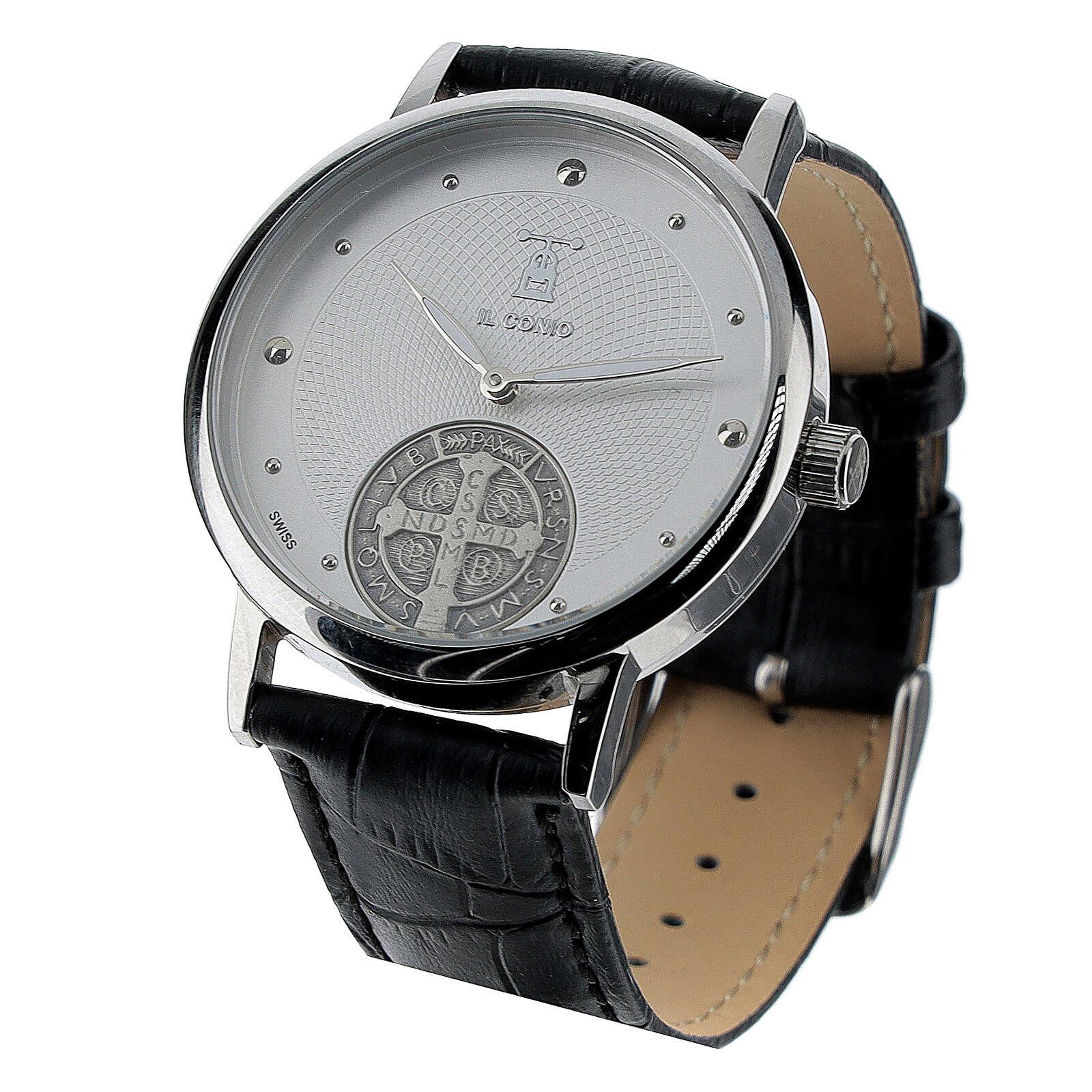 Reloj esfera blanca San Benito plata 925 4