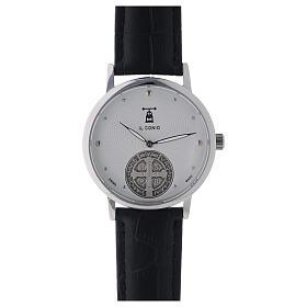 Relógio de pulso branco São Bento prata 925 s1