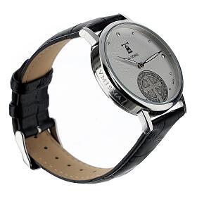 Relógio de pulso branco São Bento prata 925 s2