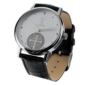 Relógio de pulso branco São Bento prata 925 s4