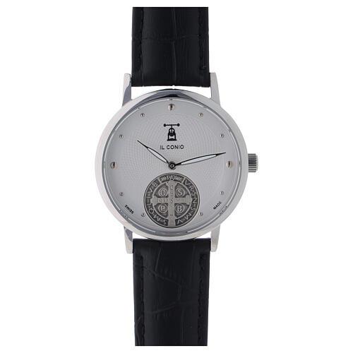 Relógio de pulso branco São Bento prata 925 1