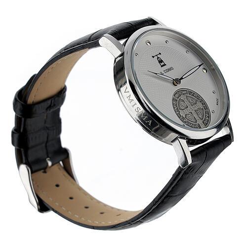 Relógio de pulso branco São Bento prata 925 2