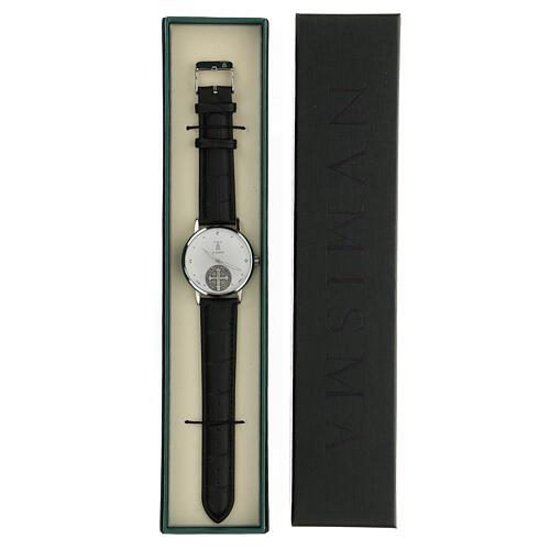 Relógio de pulso branco São Bento prata 925 5