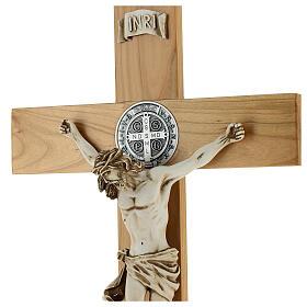 Croce di San Benedetto legno ciliegio 70 X 35 cm
