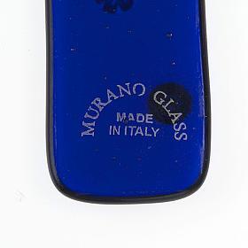 Croce vetro di Murano e murrina blu s3