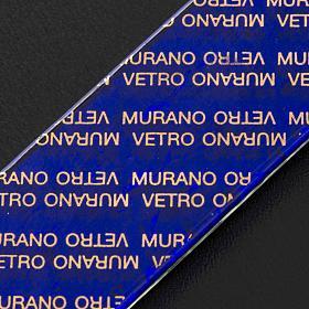 Croce in vetro di Murano con foglia argento arlecchino s7
