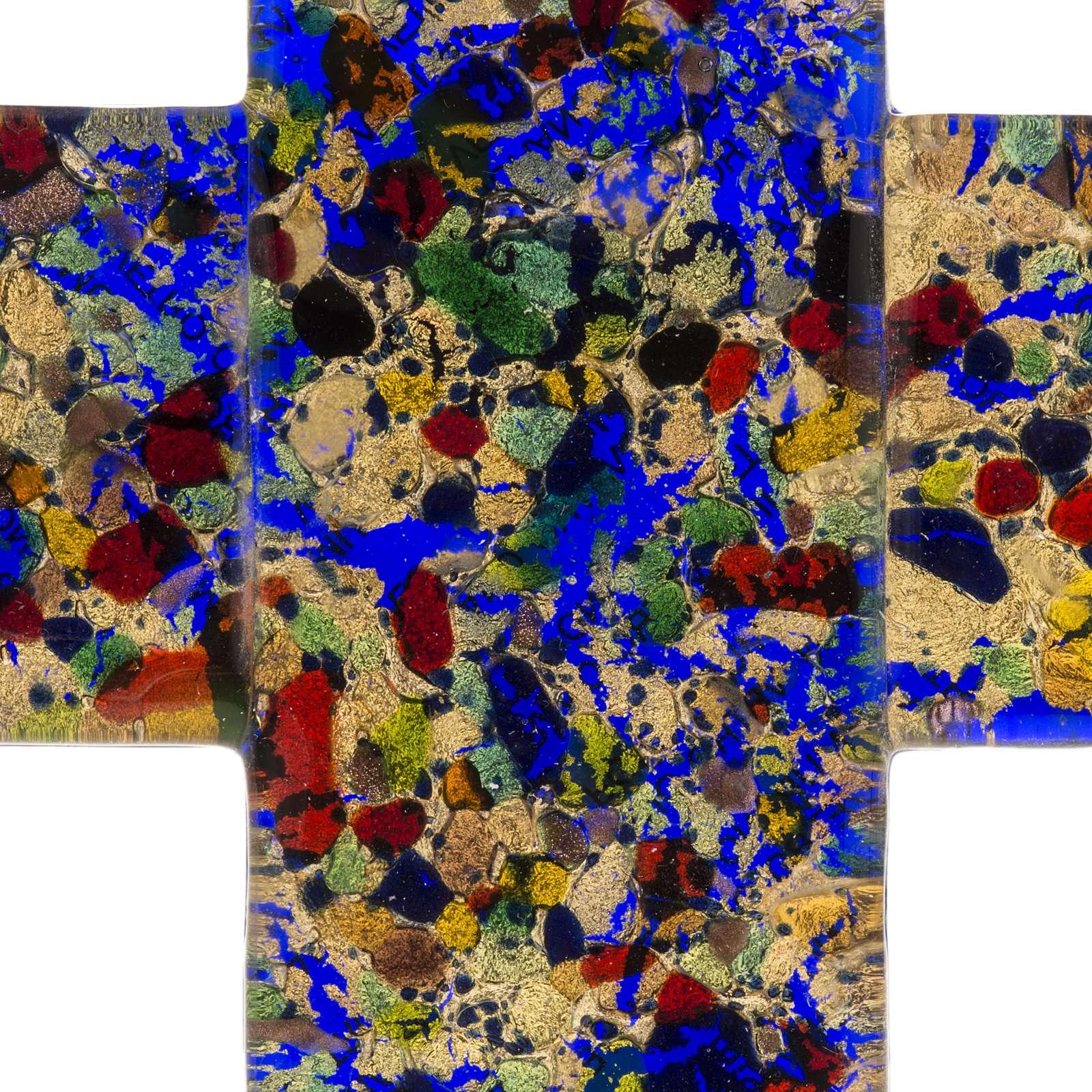 Cruz en vidrio de Murano 12x12cm 4