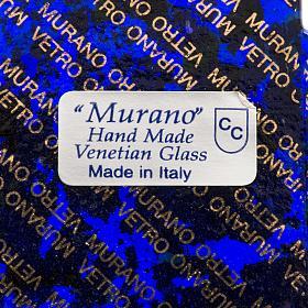 Cruz en vidrio de Murano 12x12cm s4