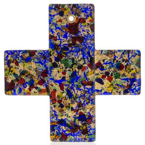 Cruz en vidrio de Murano 12x12cm 1