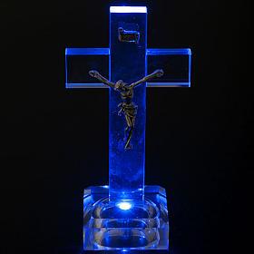Crucifijo vidrio con luz interna s3