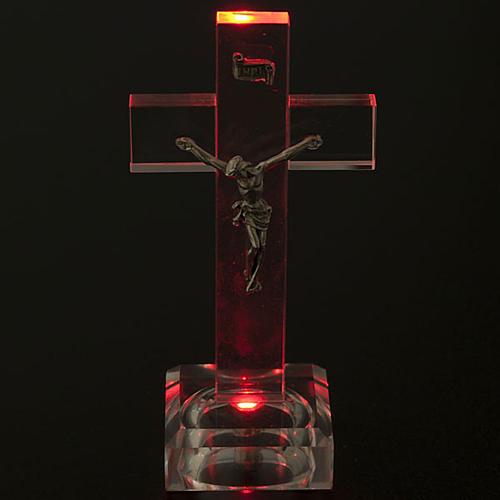 Crucifijo vidrio con luz interna 2