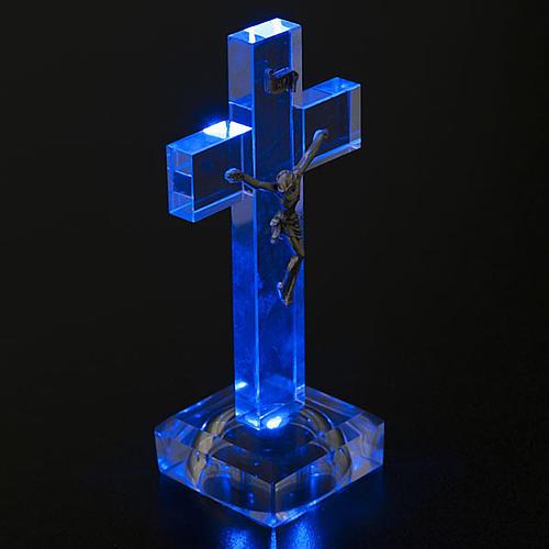 Crucifijo vidrio con luz interna 4