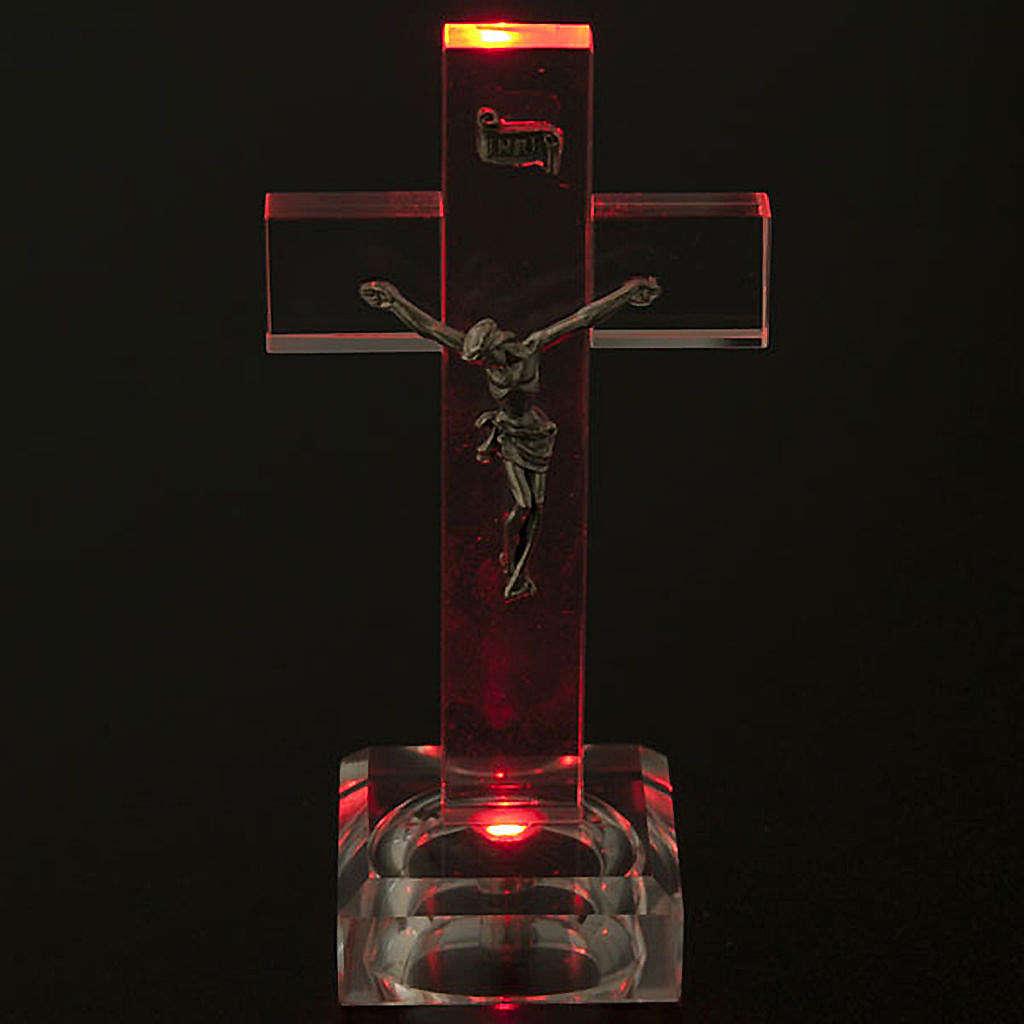 Crocefisso vetro con luce interna 4