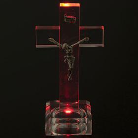 Crocefisso vetro con luce interna s2