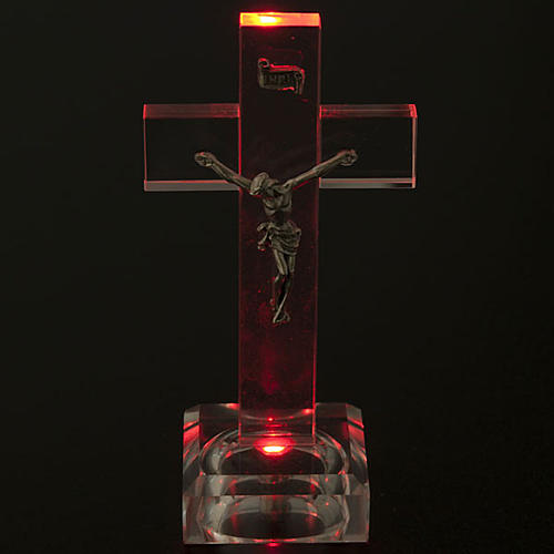 Crocefisso vetro con luce interna 2