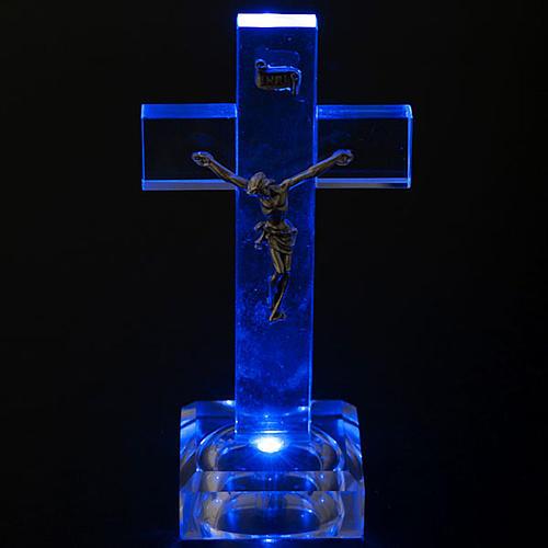 Crocefisso vetro con luce interna 3