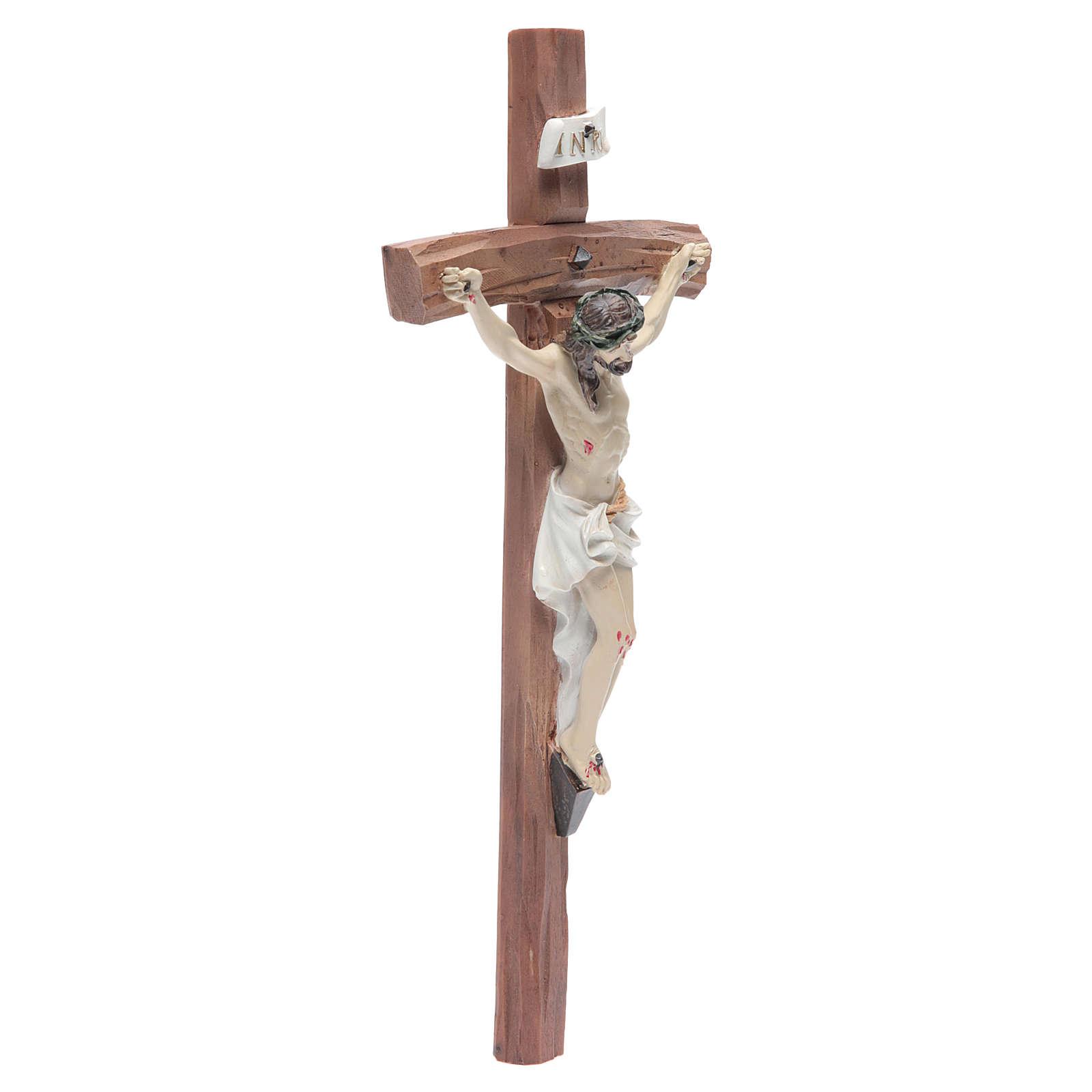 Crucifix résine 29x13 cm 4