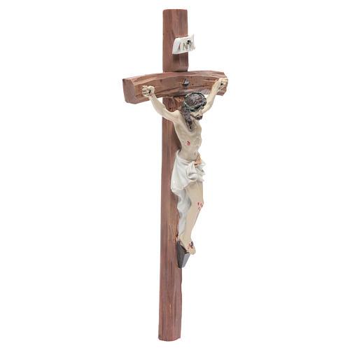 Crucifix résine 29x13 cm 3