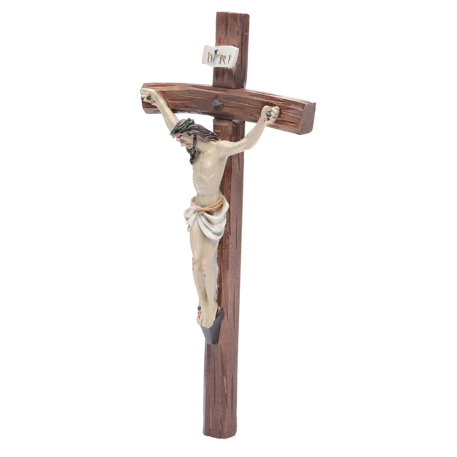 Crucifix résine 24x12 cm 4