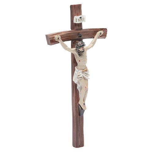 Crucifix résine 24x12 cm 3