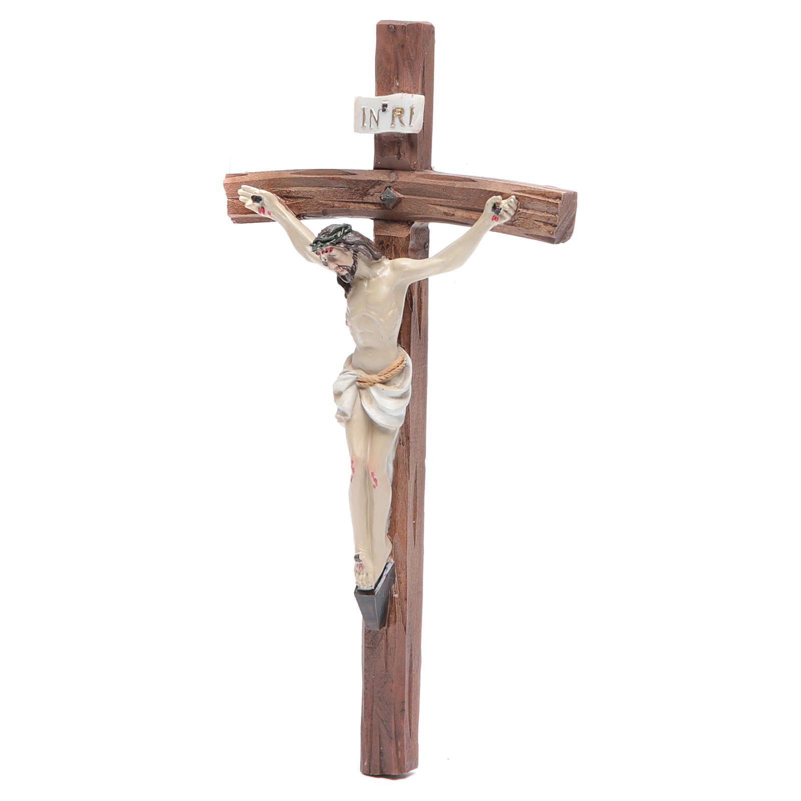 Crucifix in resin 19x10cm 4
