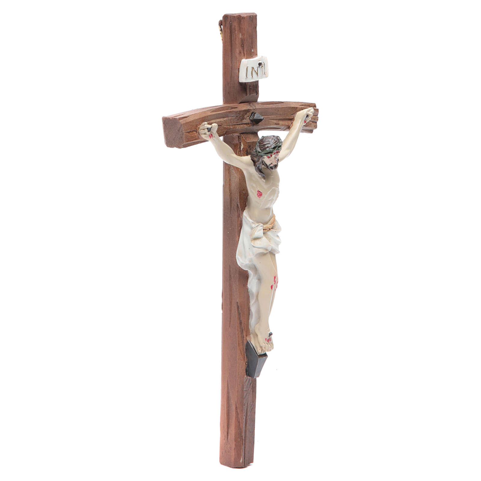 Crucifijo resina 19x10 cm 4