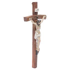 Crucifijo resina 19x10 cm s3