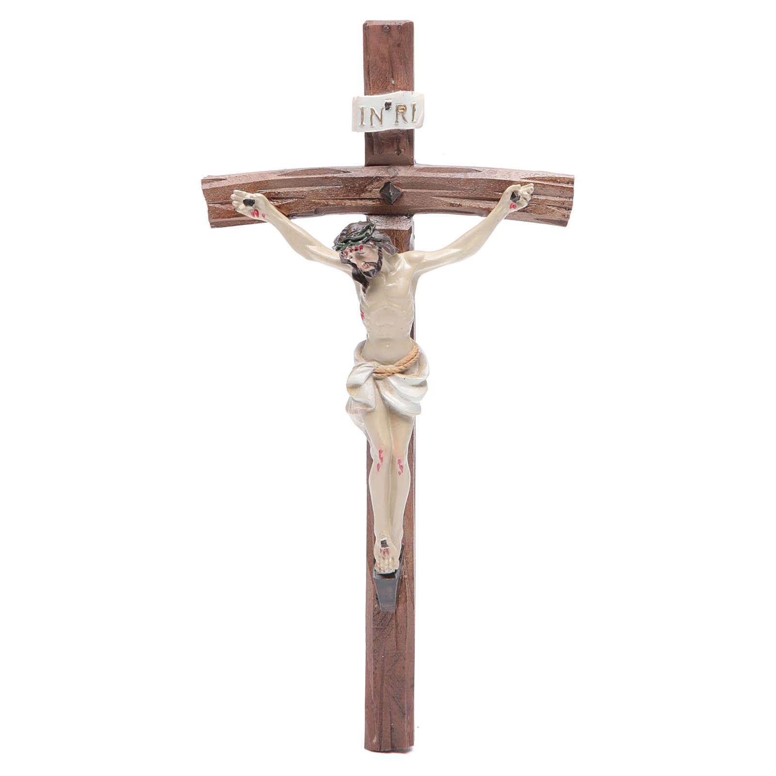 Crucifix résine 19x10 cm 4