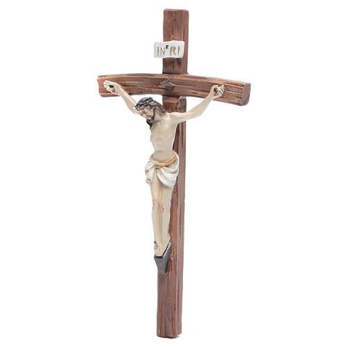 Crucifix résine 19x10 cm 2
