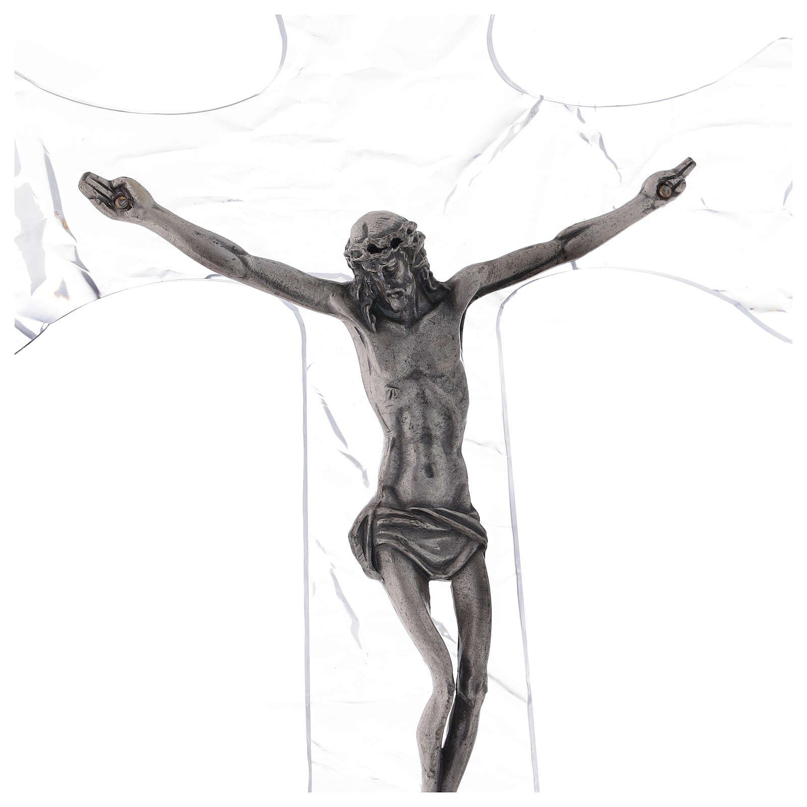 Crucifijo de pared de plexiglás h. 35 cm 4