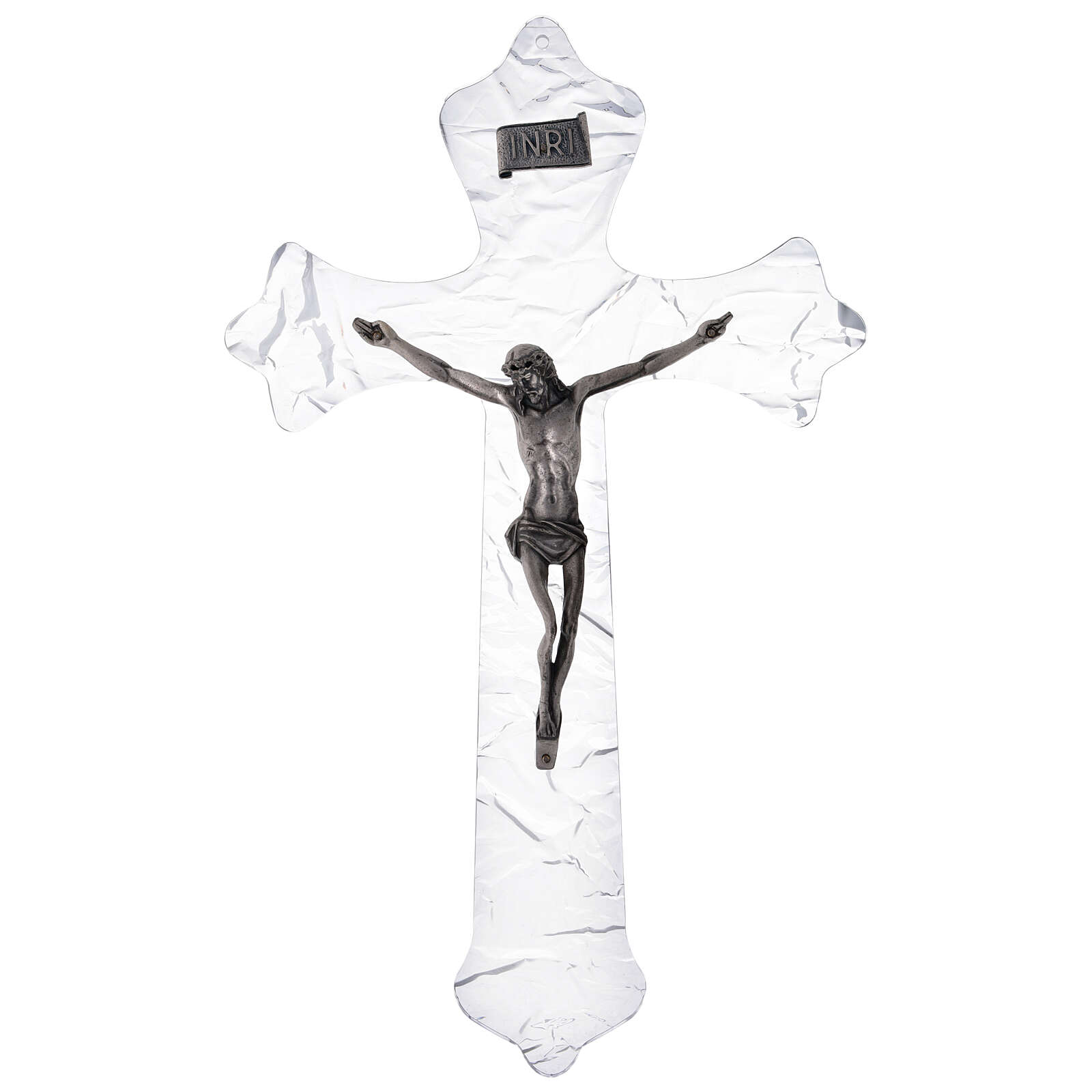 Crucifix mural en plexiglas h 35 cm 4