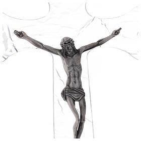 Crucifix mural en plexiglas h 35 cm s2