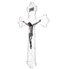 Crucifix mural en plexiglas h 35 cm s3
