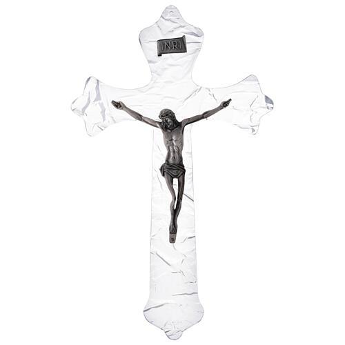 Crucifix mural en plexiglas h 35 cm 1